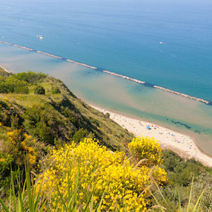Coast in the Marches, Italy